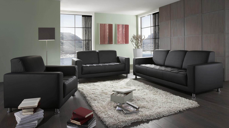 3 tlg Couchgarnitur 3 Sitzer 2 Sitzer Sofa Sessel 3 Farben 2 Stoffe DO Abriola