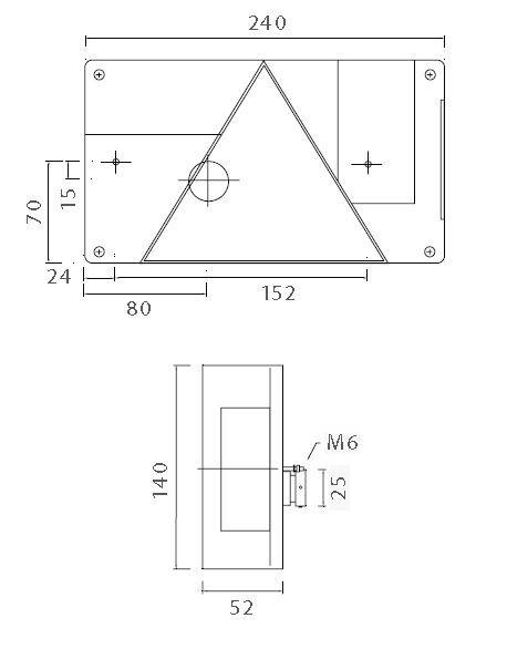 asp ck multipoint 1 leuchte rechts bajonettanschlu anh nger ersatzteile beleuchtung. Black Bedroom Furniture Sets. Home Design Ideas