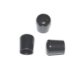 50 x Kappe für Rundrohr D=12/13 mm L= 15 mm schwarz PVC