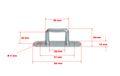 10 Stück - Bügel-/ Riemenkrampen - 36x26 mm - Planenhaken - Stahl verzinkt   10 Stück - Bügel-/ Riemenkrampen - 36x26 mm - Planenhaken - Stahl verzinkt