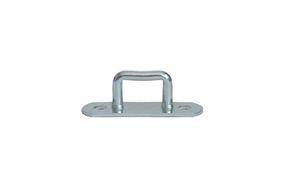 10 pieces - stirrups/ belt cramps - 24x23 mm - tarpaulin hook - galvanised steel