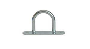 10 pieces - shackle / belt cramps - 32x36 mm - tarpaulin hook - galvanised steel