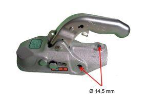 1 x Knott - Kugelkupplung - K27-A - 2700kg - Ø50mm - Bohrungen 14,5mm