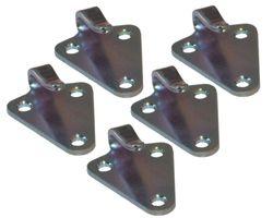 5 pieces - three-hole - tarpaulin hook - punched version - galvanised steel