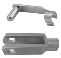 5 pieces - fork head 5x20 - M5 + safety bolt / galvanised safety bolt