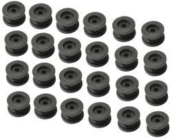 24 pieces - round knob for 6 - 8 mm expander rope - tarpaulin button