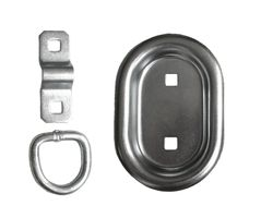 1 pieces - Lashing rings oval 104 x 70 mm - 400 daN - galvanised - Lashing troughs