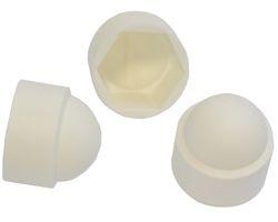 100 pièces bouchon hexagonal M4 - taille de la clé 7 mm, couleur blanc - cap