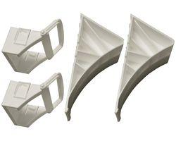 2 Stück - Unterlegkeil für Autoanhänger - Zubehör  - mit Klapphalter