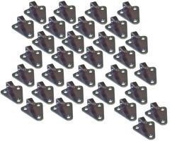 32 pieces - three-hole - tarpaulin hook - stamped version - galvanised steel