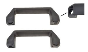 2 pieces Handle / Shunting handle Plastic black