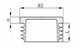 20 x Lamellenstopfen Rundrohrstopfen Ø 30 mm (Außen) Stopfen GRAU