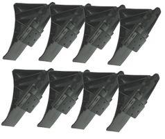 8 Stück Unterlegkeile mit Halter - Schwarz - max.1600 kg