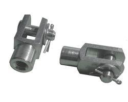 2 pieces - fork head 5x10 - M5 + safety pin /splint bolt galvanized