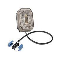 1 x Aspöck Flexipoint 1 blanc avec câble CC de 0,5 m + connecteur CC - 31-6509-027