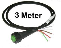 1 x Aspöck - open End - Kabel 3m - 5 polig - Bajonett Anschluss - Grün