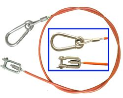 Pull-off rope / safety rope Knot 1200 mm long - Knot No. 203202002