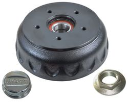 1 x KNOTT brake drum 200 x 50, compact bearing 112x5, + flange nut and grease cap --- complete set 6A0073