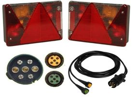 Aspöck Multipoint 4 - lamp set right + left + cable 6 meter 7pin