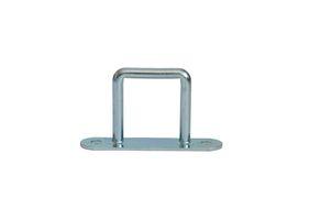 10 pieces - stirrups/ belt cramps - 42x37 mm - tarpaulin hook - galvanised steel