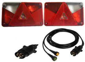 Aspöck Multipoint 5 Set Lampen rechts + links und Kabel 3 Meter 7polig