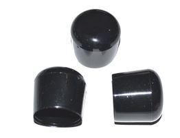 100 Stück - Kappe für Rundrohr D=20 mm L= 20 mm schwarz PVC