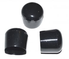 100 pieces - End cap for round tube / rods Ø 25 to 26 mm -- BLACK