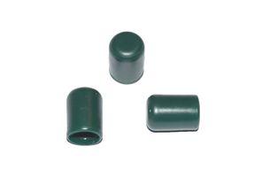 50 Stück - Kappe für Rundrohr D=6 mm L=11 mm grün PVC