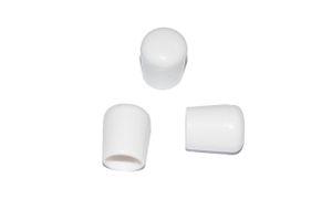 50 Stück - Kappe für Rundrohr D=8 mm L=12 mm weiß, PVC