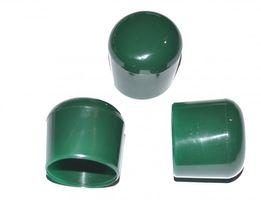 100 Stück - Kappe für Rundrohr D=20 mm L= 20 mm grün PVC