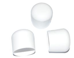 25 pieces - Cap for round pipe D=20 mm L= 20 mm White PVC