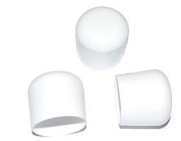 100 x Kappe für Rundrohr D=20 mm L= 20 mm weiss PVC