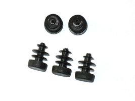 100 x lamellar plugs Round tube plug Ø 12 mm (outer) plug BLACK