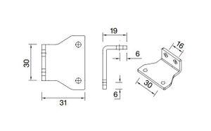 1 Stück Aspöck Flexipoint I  Halter 90° Winkelhalter - 15-5318-707