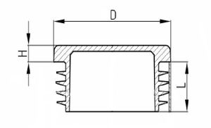 20 x Lamellenstopfen Vierkantrohrstopfen 25 x 25 mm (Außen) Stopfen GRAU