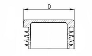 10 x Lamellenstopfen Vierkantrohrstopfen 30 x 30 mm (Außen) Stopfen GRAU