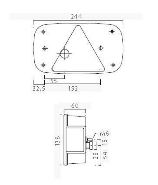 asp ck multipoint 3 lampe rechts bajonettanschlu 8 polig anh nger ersatzteile beleuchtung. Black Bedroom Furniture Sets. Home Design Ideas