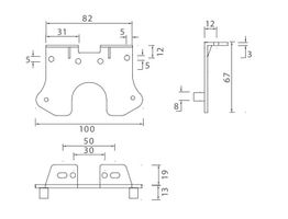"2 x Flatpoint 2 - Halter 90° ""Z""-Form - Aspöck Nr. 15-5321-107"