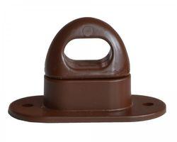 10 Stück Drehverschluss für Ovalösen, Kunststoff, 42x22mm, braun
