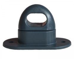10 pièces - serrure tournante ovale - oeillets - plastique - 42x22mm - gris