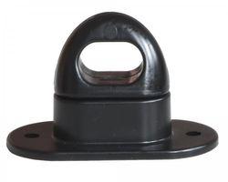 10 pièces - serrure tournante ovale - oeillets - plastique - 42x22mm - noir
