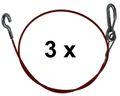 3 Pièce Corde de traction / câble de sécurité ALKO 1050 mm long - AL-KO Référence: 368605