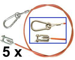 5 Stück Abreißseil / Sicherungsseil Knott 1050 mm lang - Knott Nr. 203202.001