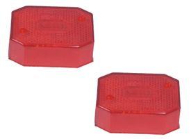 2 x lentille Aspöck Flexipoint 1 rouge - verre de remplacement