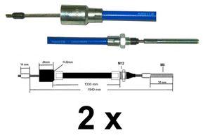 2 x Knott Bremsseil  37086.15 HL: 1330 mm - GL: 1540 mm --- Nirosta