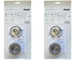 2 x ALKO - Radlager 1224802 - Lager 64/34x37 mm + Radmutter + Sicherung
