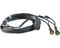Aspöck - Câble de remorque 7m - Connecteur 7 pôles avec sortie - Connecteur 2 pôles