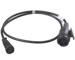 1 x Aspöck Kurzkabel - 1,3m vorne 13 poliger Stecker (8 Pin) - hinten Bajonett 8 polig