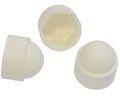 500 pièces Capuchon de protection hexagonal M8 - Taille de clé 13mm, couleur blanc - Capuchons de protection