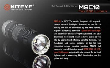 Niteye MSC10 XM-L U2 LED mit innovativen Drehring – Bild 9